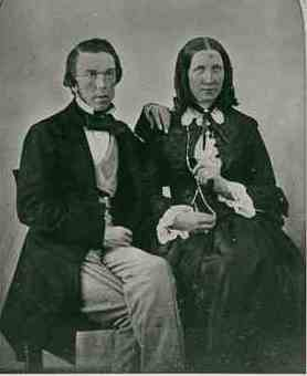 Sir Charles and Lady Todd c1855
