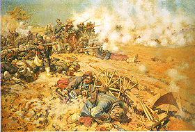 Franco-Prussian War, Battle of Mars-La-Tour, La ligne de feu by Pierre-Georges Jeanniot (1886)
